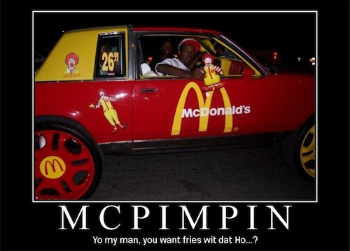 And whatever we're eating at McDonalds, whether it be burgers or Ho's, fries are a necessary side!