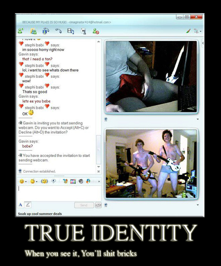 The internet, also known as identity masker