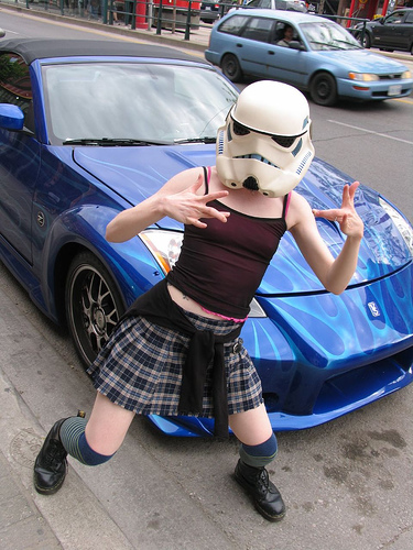 Some like fast cars and skirts (or kilts for the man-troopers)