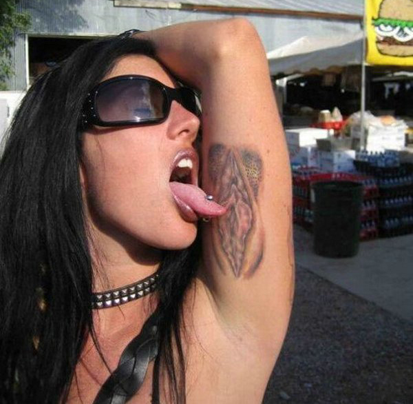 vagina near armpit - shave it all in one shot
