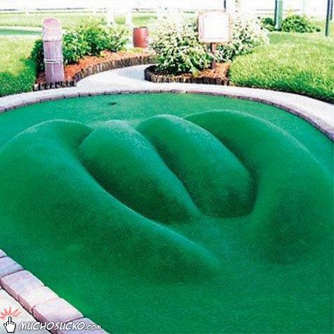 PussLip mini-golf course, hole #2