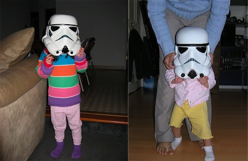 From an early age, Stormtroopers and their parents enjoy excellent health-care benefits and full helmet coverage