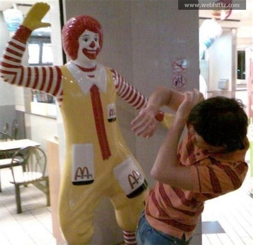 Here's to hoping everybody understands that this loving assault on the corporate image of our favorite fast-food restaurant is satire and that we don't get a big Ronald McDonald smackdown subpoena.