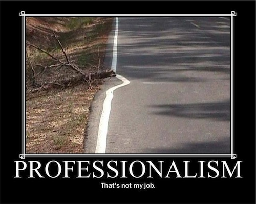 When the going gets tough, professionals go around the problem