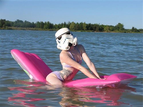 Underneath the uniform exterior, some Stormtroopers like to work on a soft, supple, well-tanned interior