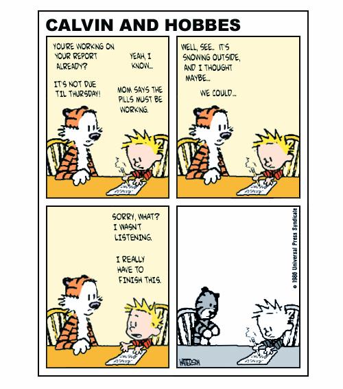 Calvin Grows up